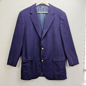 Brooks Brothers Navy Cashmere Sport Coat Size 44
